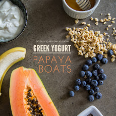 Greek Yogurt Papaya Boats