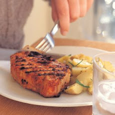 Grilled Pork Chops with Romesco