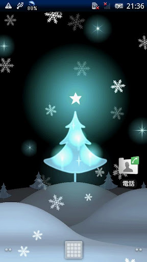White Christmas LiveWallpaper