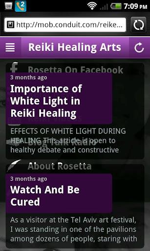 Reiki Healing Information