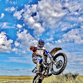 Pampa! by Jesus Giraldo - Sports & Fitness Motorsports ( amazing, argentina, concept, bike, great, hdr, art, colorfull, beauty, man, cross, jump )