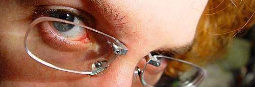 gafas sin montura (piercing)