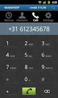 Screenshot of SmartVoip Call abroad