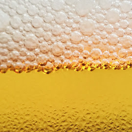 Refreshment by Jesse Peters - Food & Drink Alcohol & Drinks ( macro, beer, bubbles, gold )