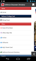 Screenshot of Defence Discount Service