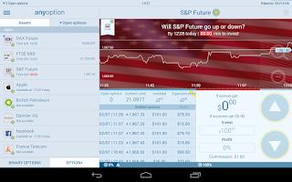 Screenshot of Binary Options Mobile Trading