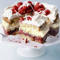 Raspberry & Coconut Trifle Cake