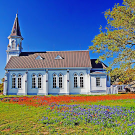 ----------Country Church---------- by Neal Hatcher - Buildings & Architecture Places of Worship