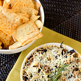 Baked Asiago and Caramelized Onion Hummus Dip