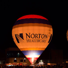 Norton Healthcare hot air balloon by Todd Grimm - Novices Only Sports