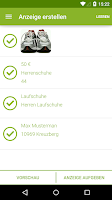Screenshot of eBay Kleinanzeigen for Germany