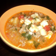 Italian Sausage and Shrimp Soup