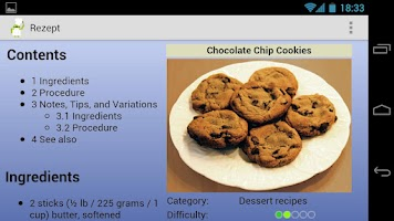 Screenshot of Cook Droid Recipes