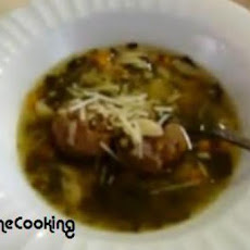 Solar Cooked Italian Style Wedding Soup With Meatballs