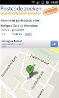 Screenshot of Postcode zoeken