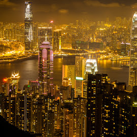 The Victoria Peak by Edwin Satria - City,  Street & Park  Skylines