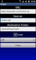 Screenshot of Download and Unzip