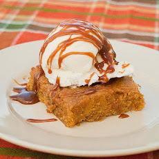 Pumpkin Brownie Sundaes
