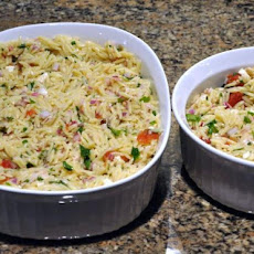 Chicken Feta and Orzo Salad