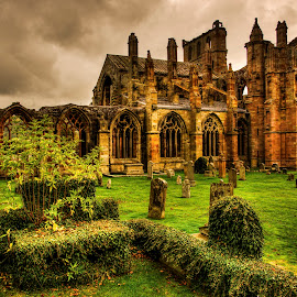 Melrose Abbey by Don Alexander Lumsden - Buildings & Architecture Decaying & Abandoned