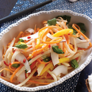 Fresh Coconut Jicama Slaw with Spicy Lemongrass Dressing