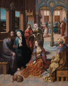 RIJKS: Cornelis Engebrechtsz.: Christ's Second Visit to the House of Mary and Martha 1520
