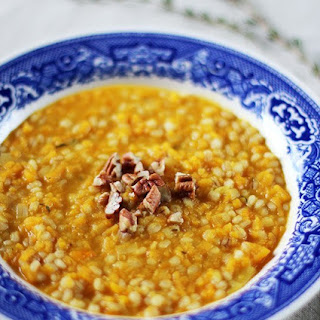 Creamy Butternut Squash Orzotto with Toasted Pecans