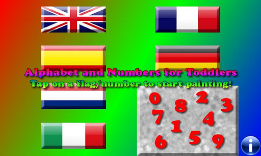 Alphabet numbers and colors F