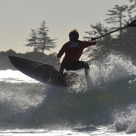Tofino Paddle Surf by Marcie Callewaert - Sports & Fitness Surfing ( surfing, stand up paddleboard, ocean )