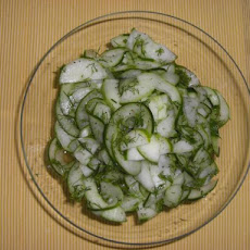 Sweet and Sour Cucumber Dill Salad