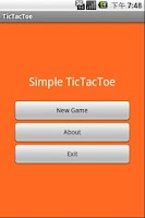 Screenshot of Simple TicTacToe