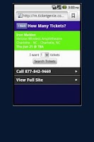 Screenshot of One Direction Tickets