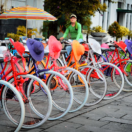 colourfull by Indrawaty Arifin - People Street & Candids ( ride, colour, bike, people,  )