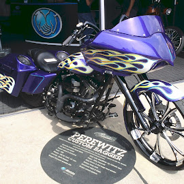 WTF is a Perewitz by David Stults - Transportation Motorcycles ( purple, yellow, color )