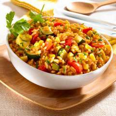 Roasted Vegetable Rice Salad