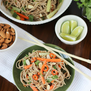 Soba Noodles with Spicy Almond Butter Sauce