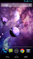 Screenshot of Asteroids 3D live wallpaper