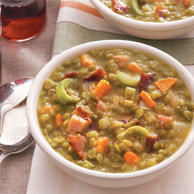 Split Pea Soup With Ham From 'Lighten Up, America!'