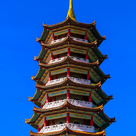 My Pagoda by Syahrul Nizam Abdullah - Buildings & Architecture Places of Worship ( temple, blue sky, pagoda, chinese new year, chinese )