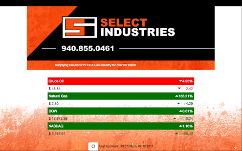 Select Industries Oil & Gas - screenshot
