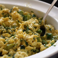 Scrambled Eggs with Crab and Asparagus Tips