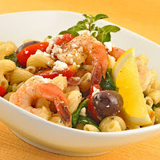 Mediterranean Pasta Salad with Shrimp