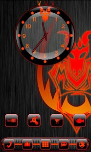 How to download Red Dragonglow Clock Widget 1.0 unlimited apk for android