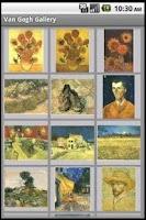 Screenshot of Van Gogh Gallery
