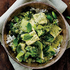 Green Curry with Bok Choy