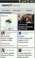 Screenshot of News24 Kenya