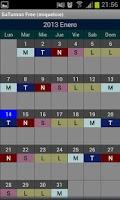 Screenshot of SaTurnos Free Calendar