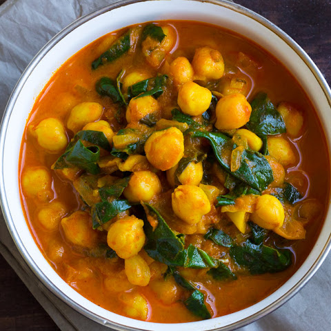 Chickpeas Spinach Curry