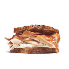 Turkey Sandwich With Cream Cheese and Bacon