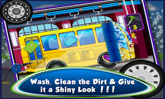 Screenshot of Little Bus Wash – Kids Games